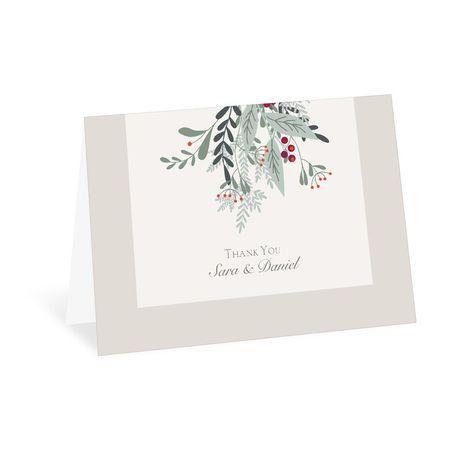 Under The Mistletoe Thank You Card