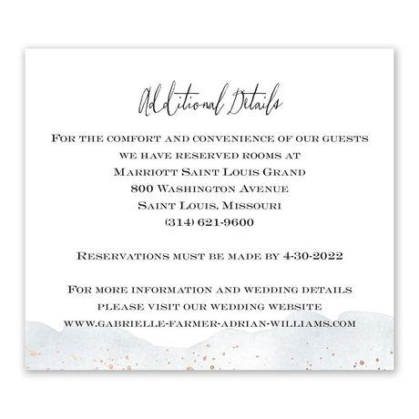 Watercolor Burst - Slate - Information Card