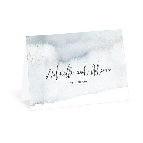 Watercolor Burst - Slate - Thank You Card