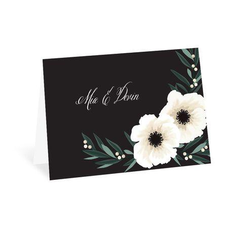 Anemone Blossom Thank You Card