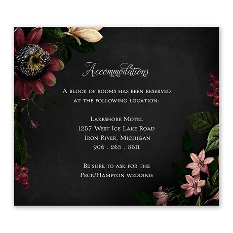 Baroque Beauty Information Card