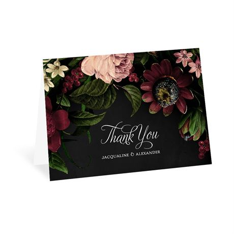 Baroque Beauty Thank You Card