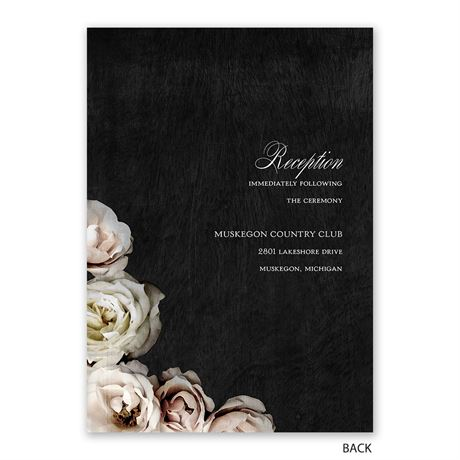 Dark Floral - Invitation with Free Response Postcard