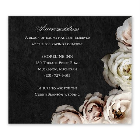Dark Floral Information Card
