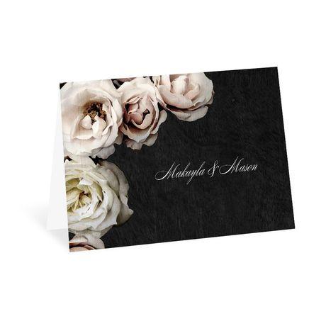 Dark Floral - Thank You Card