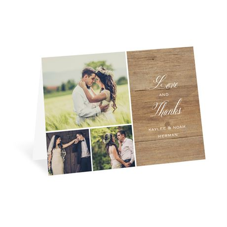 Rustic Photo - Thank You Card