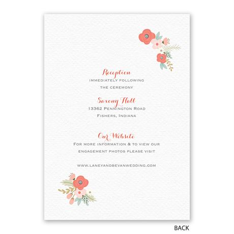 Pretty Posies - Invitation with Free Response Postcard