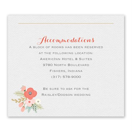 Pretty Posies Information Card