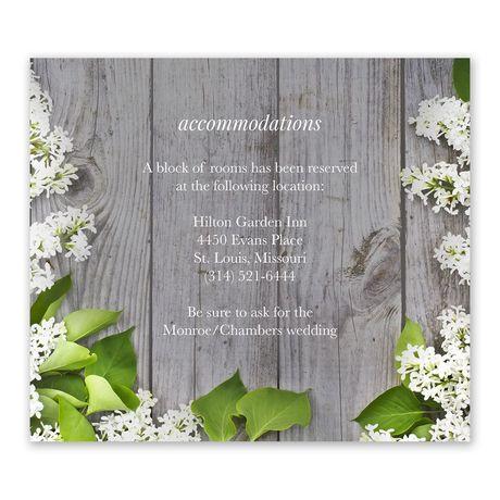 Spring Floret Information Card