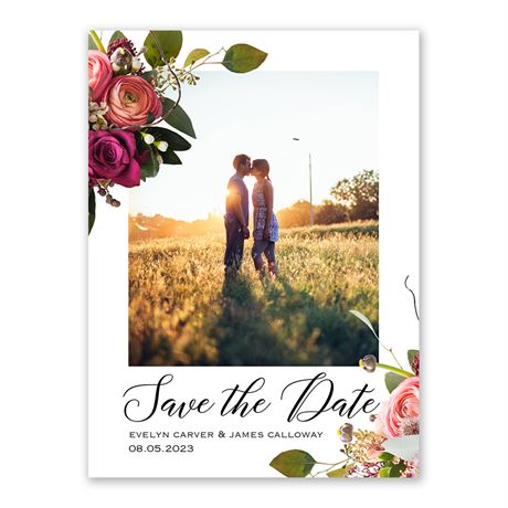 Floral Burst - Save the Date