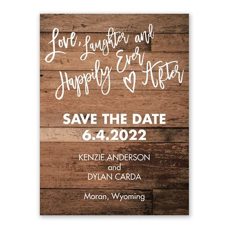 Love and Laughter Save the Date