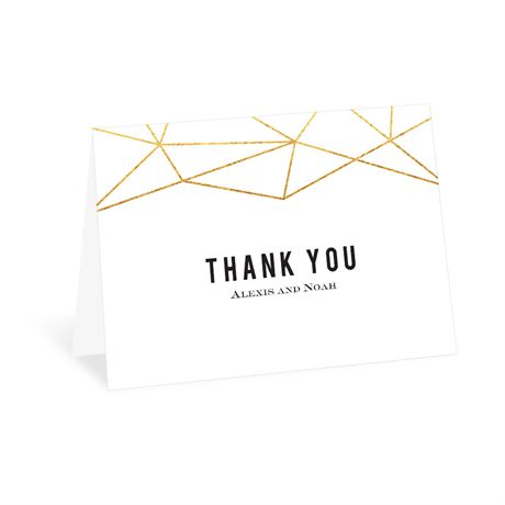 Gold Facets - Thank You Card