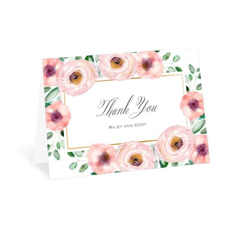 Love Blooms Thank You Card