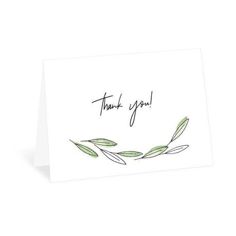 Posy Sketch Thank You Card