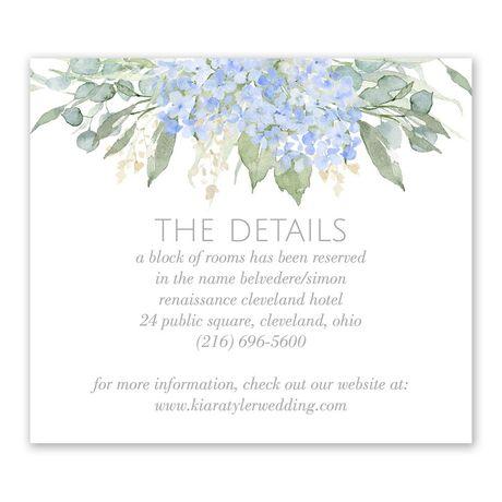 Blue Hydrangea - Information Card