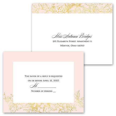 Gilded Garden - Invitation with Free Response Postcard