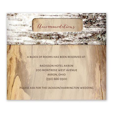 Carved Birch Information Card