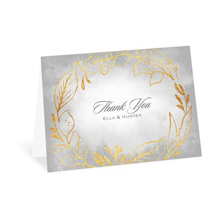 Golden Ring Thank You Card