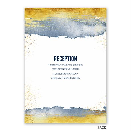Golden Brushstroke - Invitation with Free Response Postcard