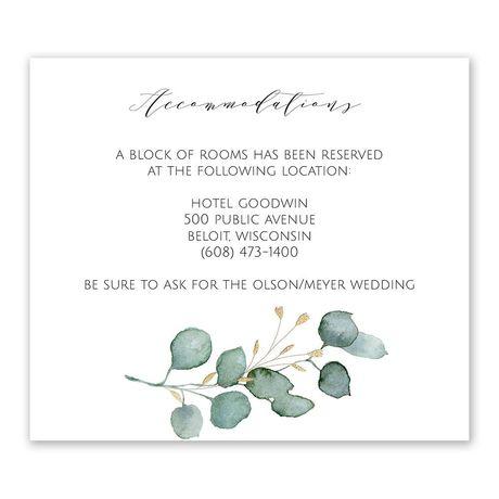 Eternity Information Card