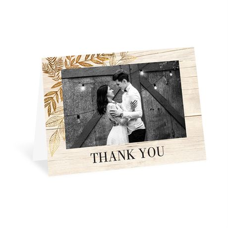 Leaves of Gold - Thank You Card