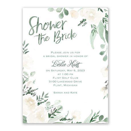Painted Garden - Bridal Shower Invitation