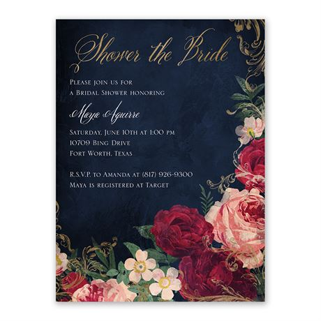 Florals and Flourishes - Bridal Shower Invitation
