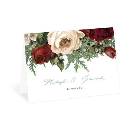 Winter Blooms Thank You Card