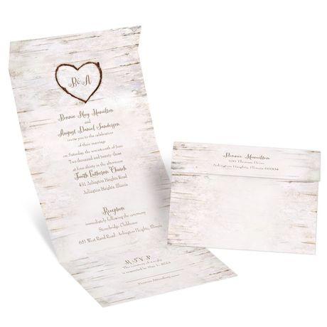 Birch Heart Seal and Send Invitation