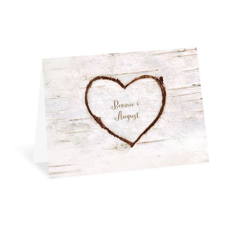 Birch Heart Thank You Card