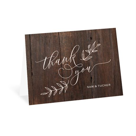 Rustic Romance - Thank You Card