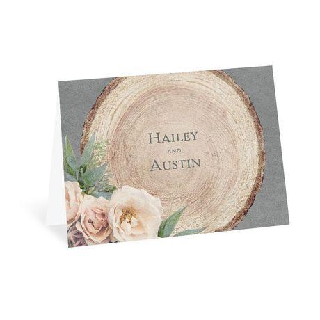 Woodland Rose - Thank You Card