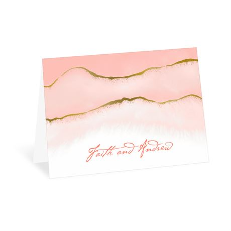 Golden Ombre Thank You Card