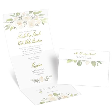 Fresh Floral - Seal and Send Invitation