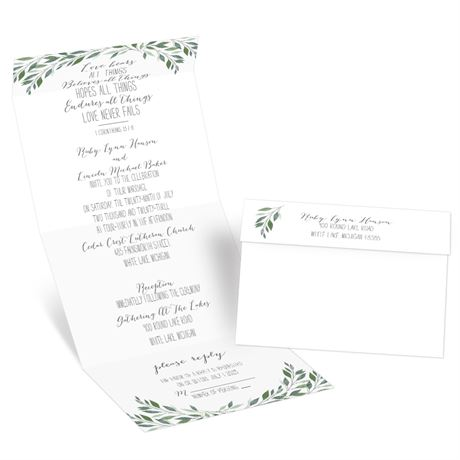 Inspired Greens - Seal and Send Invitation