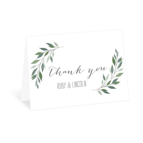 Inspired Greens Thank You Card