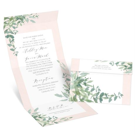 Watercolor Myrtle Seal and Send Invitation