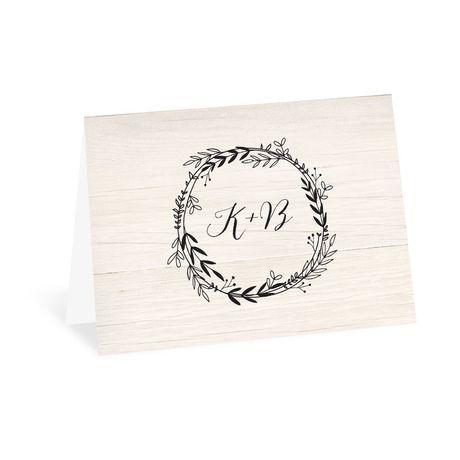 Rustic Wreath - Thank You Card