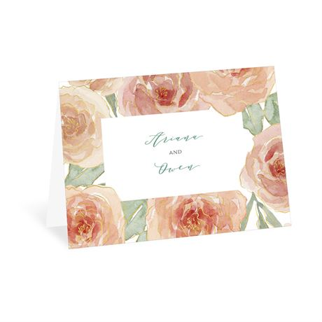 Peach Blossoms Thank You Card