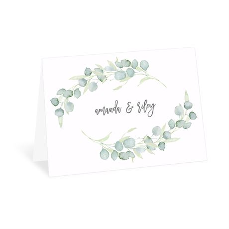Painted Greenery - Thank You Card