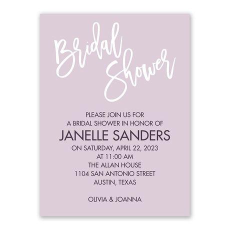 Pure Bliss - Bridal Shower Invitation