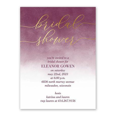 Ombre Shine - Bridal Shower Invitation