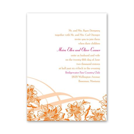 Flowers and Flourishes  Petite Invitation