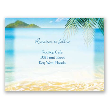 Ocean View  Reception Card
