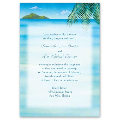 Ocean View  Invitation with Free Response Card