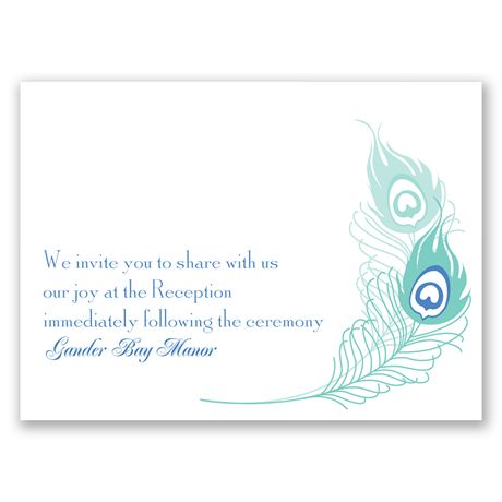 Feather Fancy  Reception Card