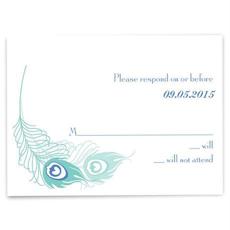 Feather Fancy - Invitation with Free Response Card and Envelopes