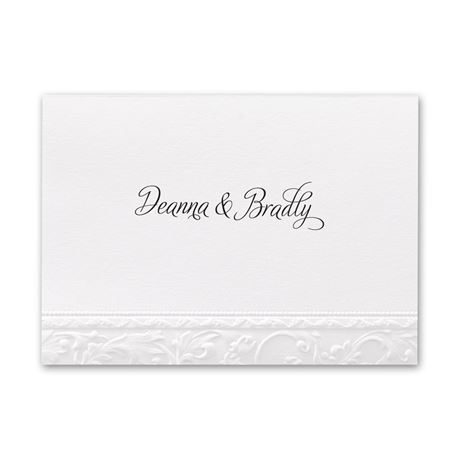 Elegant Filigree  Note Card and Envelope
