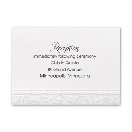 Elegant Filigree  Reception Card