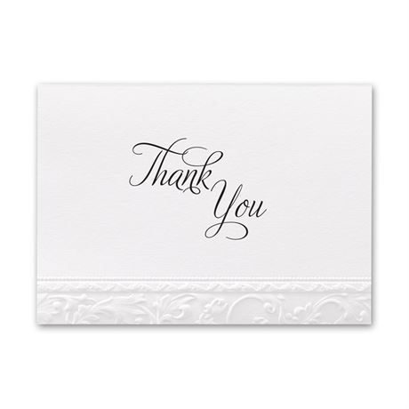 Elegant Filigree  Thank You Card and Envelope
